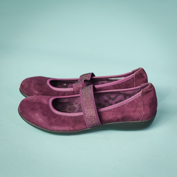 Vionic Orthaheel Womens Days Fern Mary Jane Flats Dark Brown Shoe Size 7.5 M